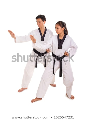 Dwa karate postawa czarny Zdjęcia stock © wavebreak_media