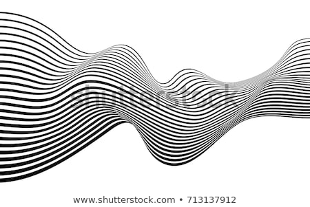 Absztrakt feketefehér görbe vonalak csíkos minta Stock fotó © ESSL