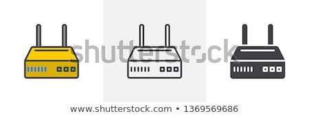 Router ikona inny stylu wektora symbol Zdjęcia stock © sidmay