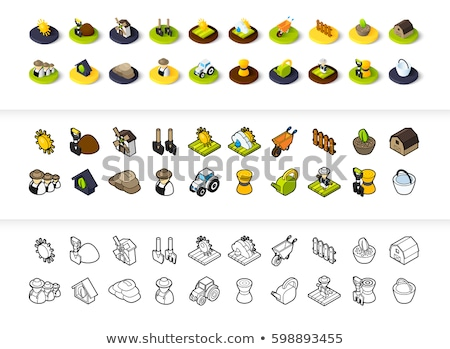 Peasants icon in different style Stock photo © sidmay