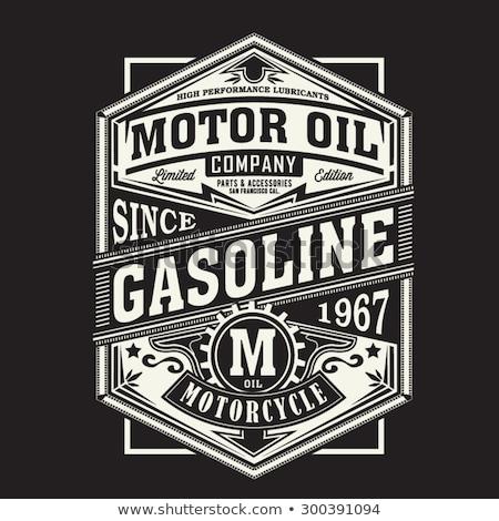 Motorcycle sport t-shirt emblem. Vector Stock photo © Andrei_