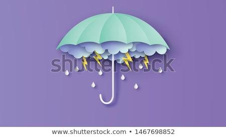紙 芸術 傘 雨 値下がり 美しい ストックフォト © balasoiu