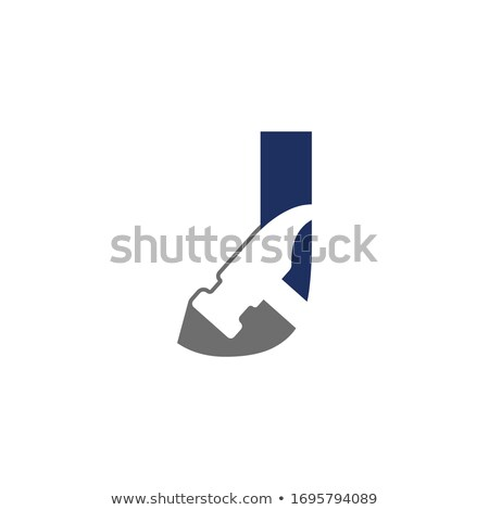 Stock photo: house logo with letter J sign. logo template
