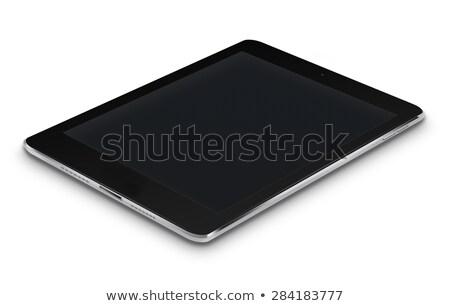 Zwarte tablet witte scherm hoog gedetailleerd Stockfoto © Said