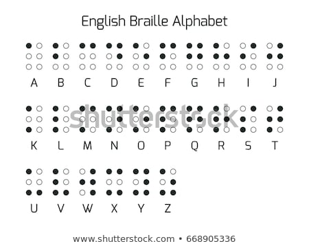English Braille alphabet letters. Vector Stock photo © Andrei_
