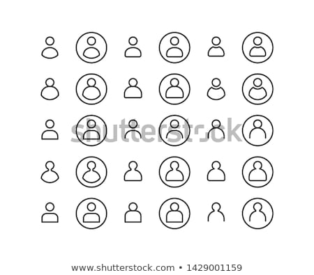 Profil felhasználók skicc ikon izolált fehér Stock fotó © kyryloff