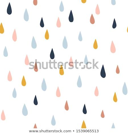 Damlacık soyut yağmur damla geometrik Stok fotoğraf © Terriana