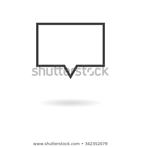 Izolált sötét szürke fehér ikon négyszögletes Stock fotó © kyryloff