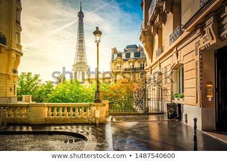 草原 · エッフェル塔 · 緑 · パリ · フランス · 雲 - ストックフォト © givaga