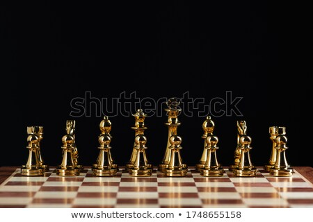 chessboard with chess figures Stock photo © Genestro
