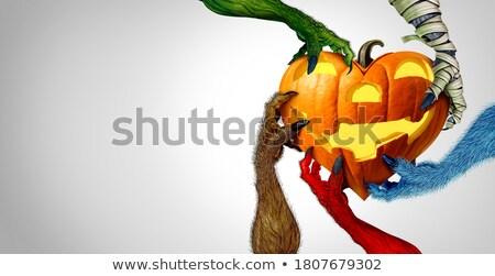 halloween · el · şekerleme · kafatası · kutlama · gizem - stok fotoğraf © lightsource