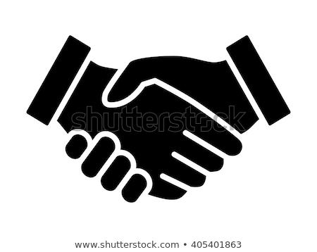 Handshake ikona umowy umowy app stronie Zdjęcia stock © MarySan