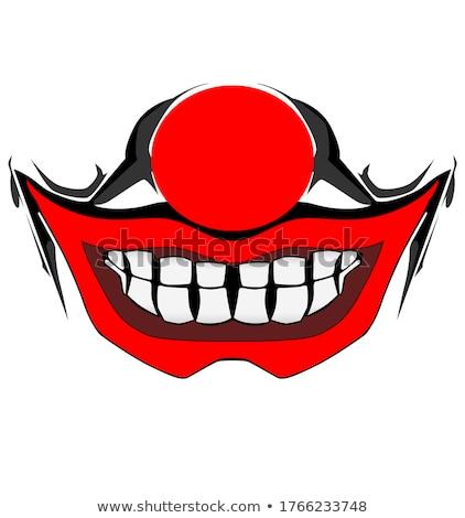 Emoticon clown neus gezicht gelukkig ontwerp Stockfoto © yayayoyo