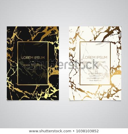 stylish geometric marble business card design Stock photo © SArts