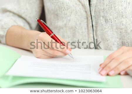 person filling scholarship form stock photo © andreypopov