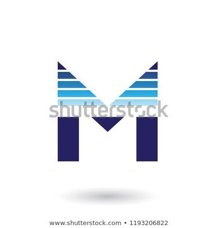 Mavi mektup m yatay vektör örnek Stok fotoğraf © cidepix