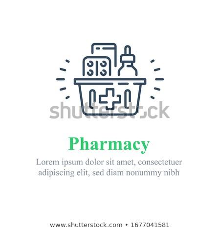 Pharmacy and Medication Set Vector Illustration Stock photo © robuart