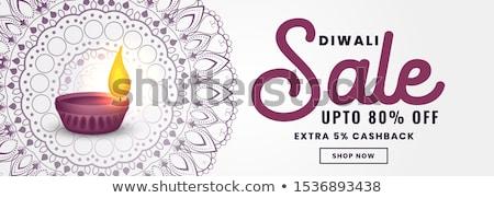 устрашающий Дивали продажи баннер дизайна счастливым Сток-фото © SArts