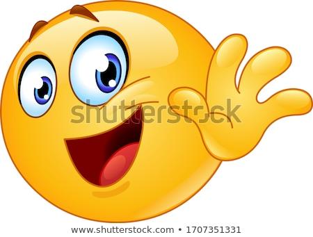 ハロー · 顔文字 · かわいい · 笑顔 · 顔 - ストックフォト © yayayoyo