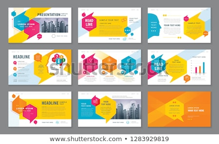 Web Design Abstract Work Process Colorful Card Stock photo © robuart