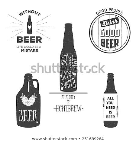 пива · эмблема · Vintage · футболки · графического · дизайна · печать - Сток-фото © robuart