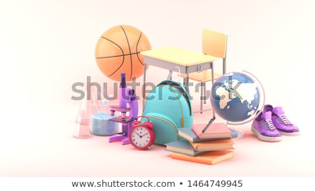 graduation cap on basketball 3d stock photo © djmilic
