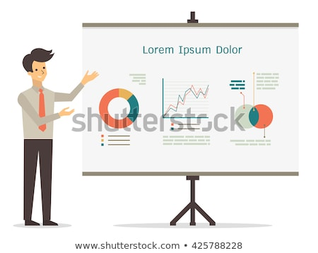 Presenter Man with Whiteboard Vector Illustration Stock photo © robuart