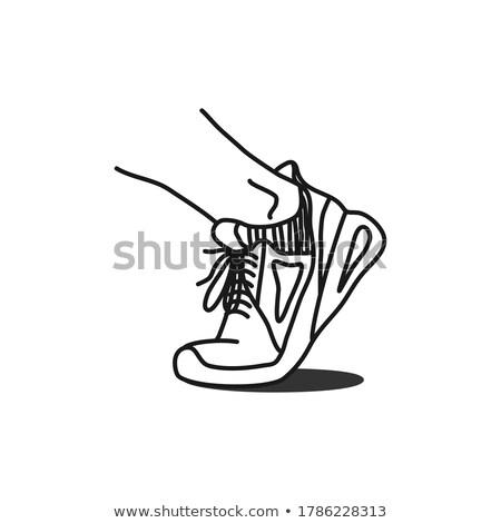 靴 モノクロ アイコン 行 芸術 ストックフォト © robuart