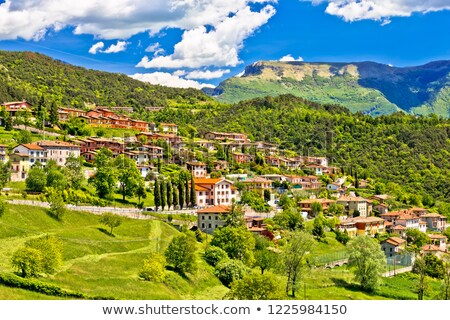 Stock photo: Picturesque mountain village of Vesio view
