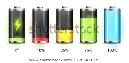 Realistic discharged and fully charged battery smartphone - vector infographic Stock photo © MarySan