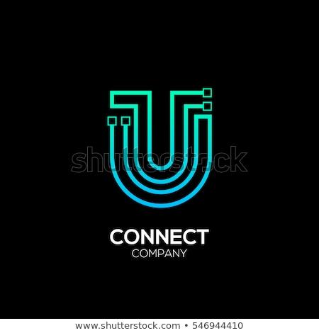 Verde círculo logotipo carta vetor Foto stock © blaskorizov