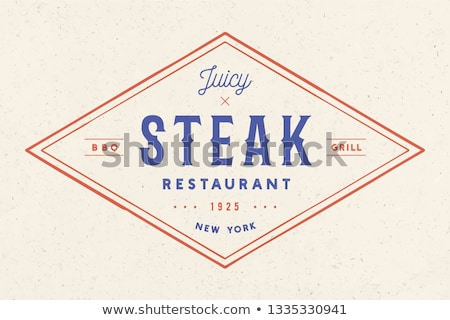 label · logo · restaurant · grill · bbq · barbecue - stockfoto © foxysgraphic