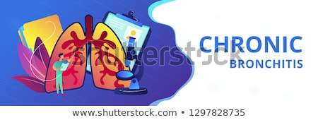 Obstructive pulmonary disease concept banner header. Stock photo © RAStudio