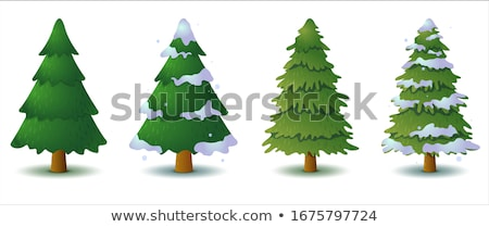 cartoon fir trees in gaming concept stock photo © robuart