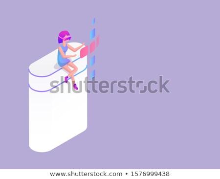 illusztráció · jókedv · játszik · oszlop · víz · zene - stock fotó © robuart