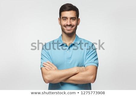 uomo · indossare · shirt · piegato · mani · mano - foto d'archivio © feedough
