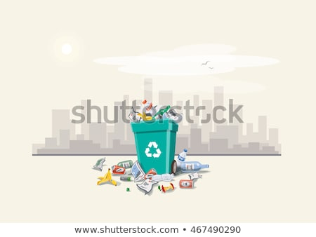 Litter in the city background Stock photo © bluering