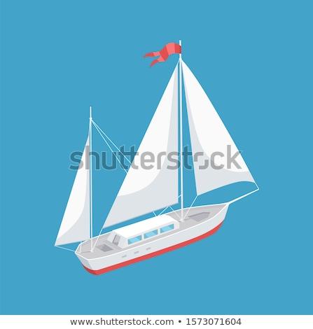 vitorla · csónak · fehér · vászon · vitorlázik · mély - stock fotó © robuart