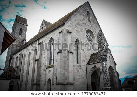 Kerk Zwitserland stedelijke steen Stockfoto © boggy