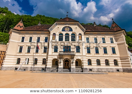 Liechtenstein National Archives building in Vaduz Stock photo © boggy