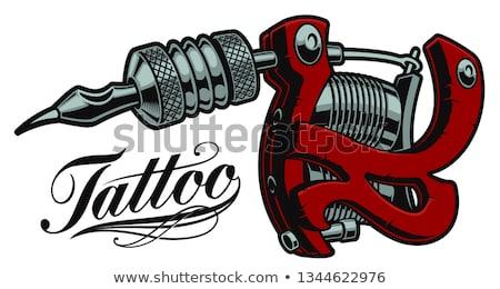 Color vintage tattoo shop emblem Stock photo © netkov1