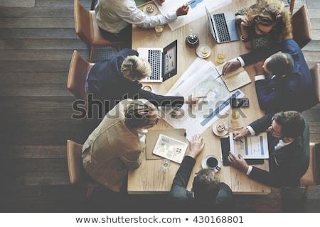 Geschäftstreffen Teamarbeit Brainstorming Büro Vektor Arbeitnehmer Stock foto © robuart
