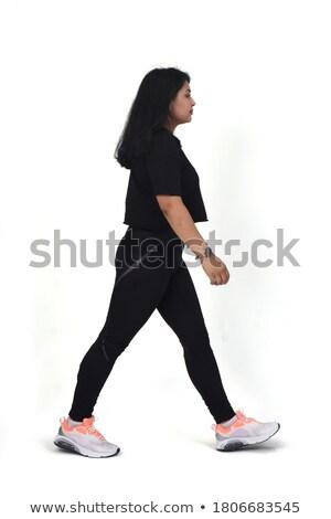 Immagine felice donna 20s abbigliamento sportivo Foto d'archivio © deandrobot