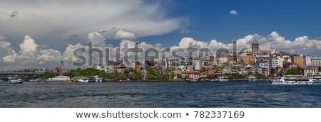 Panoramik görmek İstanbul altın boynuz köprü Stok fotoğraf © artjazz
