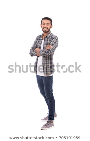 portrait of handsome mexican young man, isolated on white background. Stock photo © Lopolo