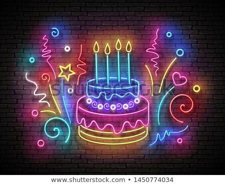 именинный · торт · свечу · рождения - Сток-фото © anna_leni