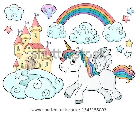 unicorn and objects theme image 2 stock photo © clairev