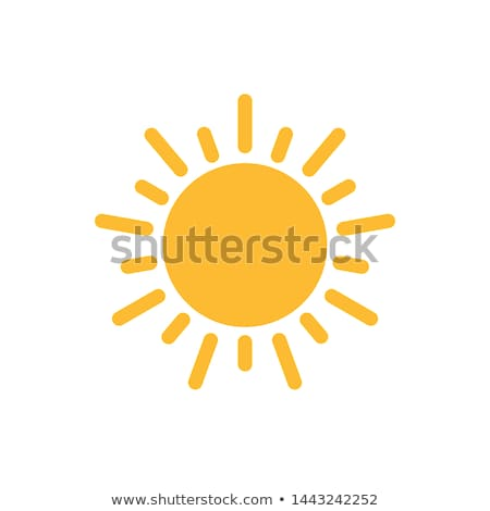 Sun flat vector icon Stock photo © nosik