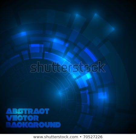 Abstract dark blue technical background with place for your text Stock photo © orson