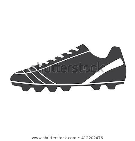 futball · csizma · vonal · ikon · háló · mobil - stock fotó © angelp